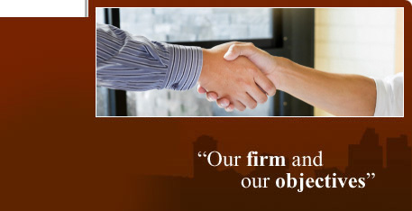 "Solicitors in Reading offers legal advice on corporate and commercial, conveyancing and property, wills and probate, trust and tax planning and property law. Image: solicitors with our strapline - ""Our firm and our objectives"""